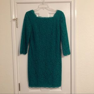 Nordstrom Adrianna Papell Green Fitted Dress